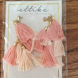 Ettika Day Dreamer Tassel Earrings (New)